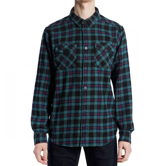 RVCA That'll Work Flannel Shirt - Pirate Black