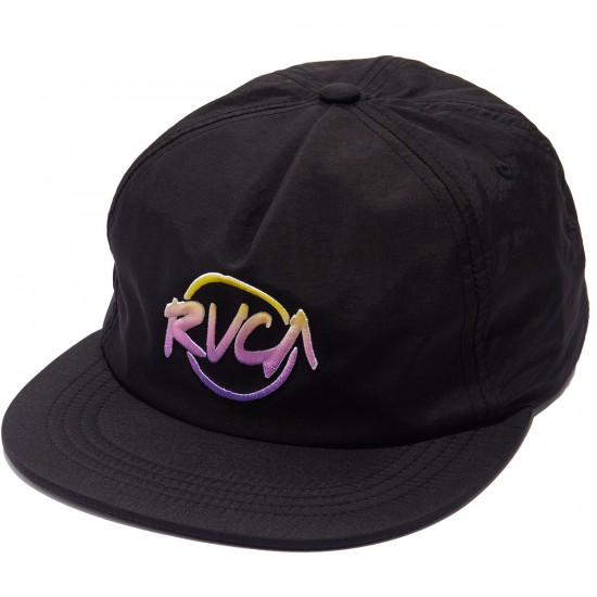 RVCA Layd Back Snapback Hat - Black