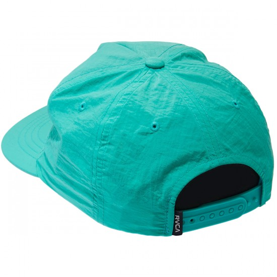 RVCA Layd Back Snapback Hat - Nile Blue