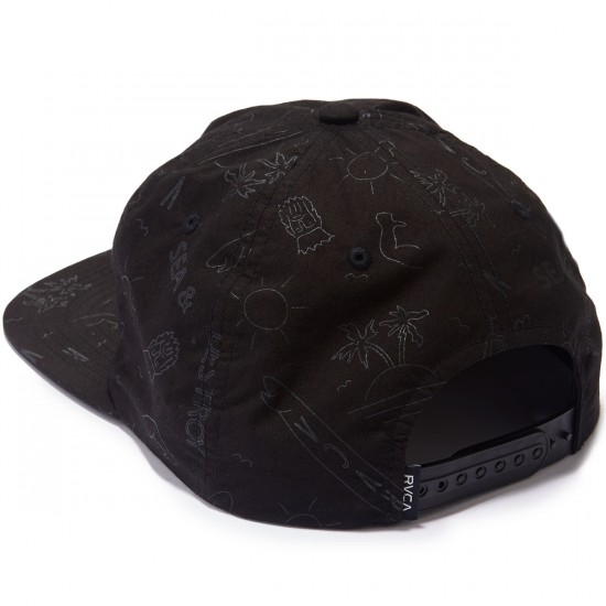 RVCA Sea and Destroy Hat - Black
