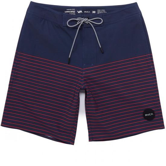 RVCA Curren Trunk Boardshorts - Federal Blue