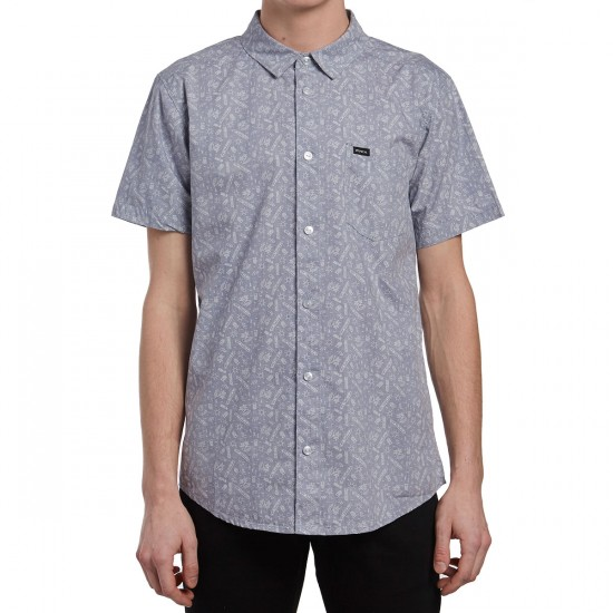 RVCA Sea and Destroy Shirt - Smoke Purple