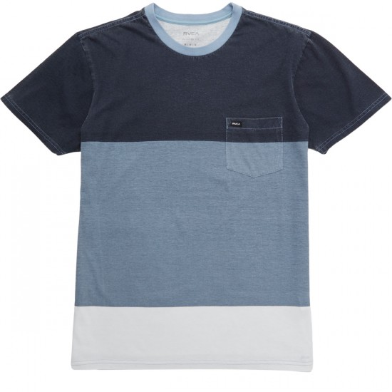 RVCA Blockdown Shirt - Blue Slate