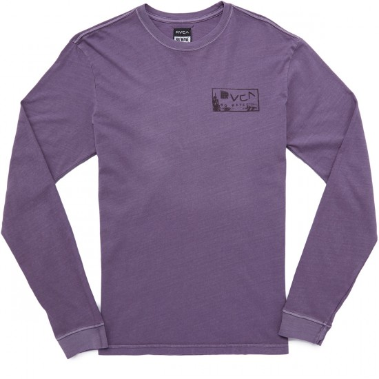 RVCA Side Eyes Shirt - Dusty Grape