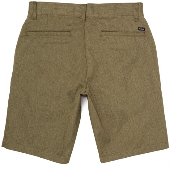 RVCA The Week-End Shorts - Burnt Olive Heather