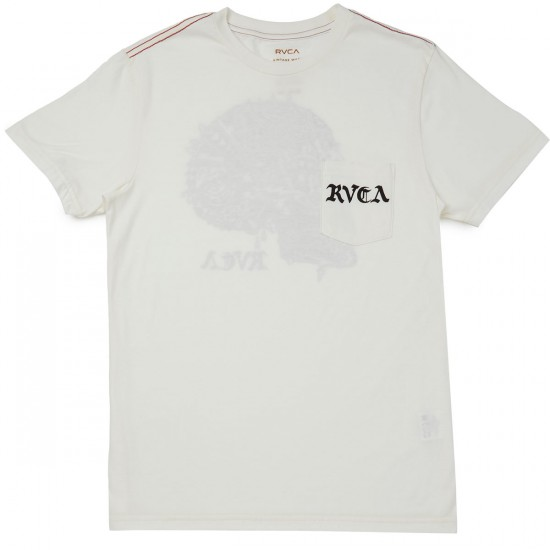 RVCA Blue Skull T-shirt - Antique White