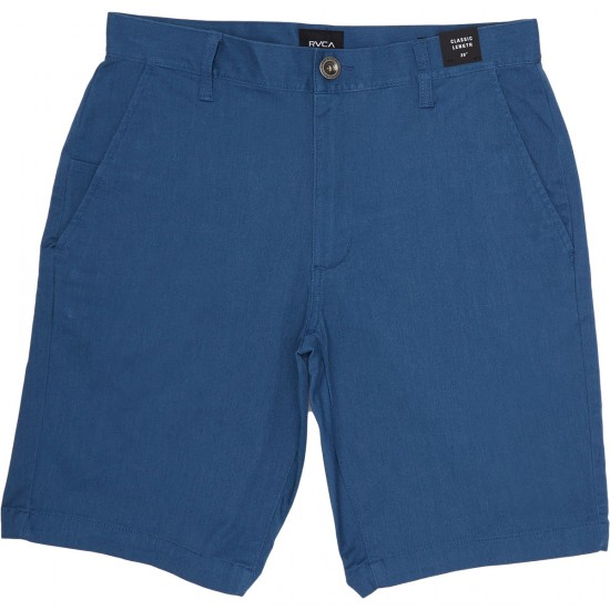 RVCA Week-End Stretch Shorts - Lapis Heather