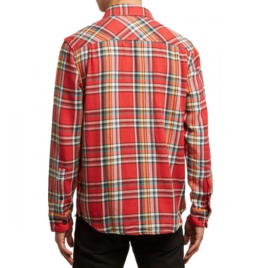 RVCA Camino Flannel Shirt - Baked Apple
