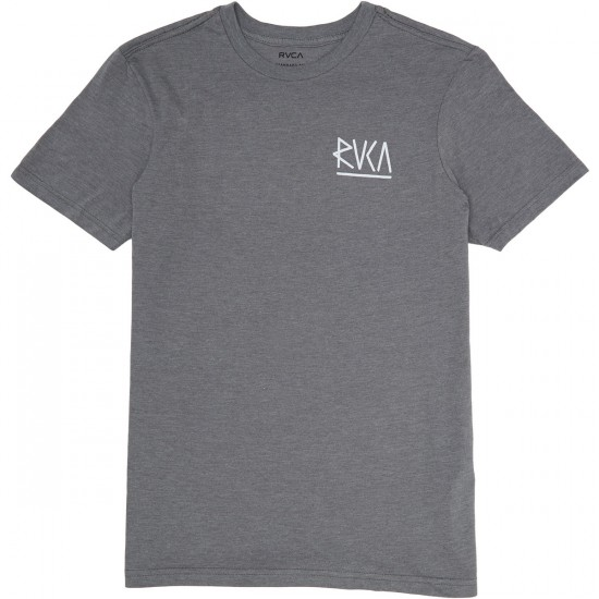 RVCA Flip RVCA T-Shirt - Grey Noise