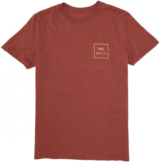 RVCA Grid All The Way T-Shirt - Rosewood