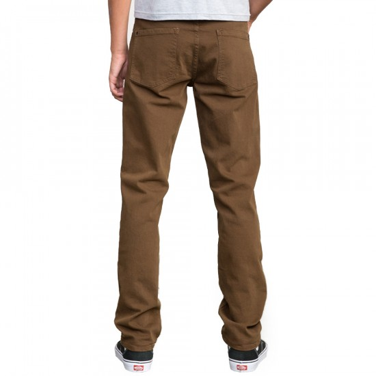 RVCA Daggers Denim Pants - Brown - 29 - 32