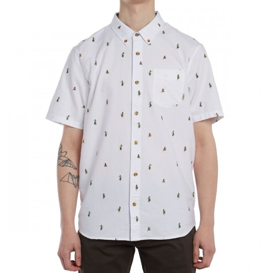 Vans Houser Shirt - White Hula Daze