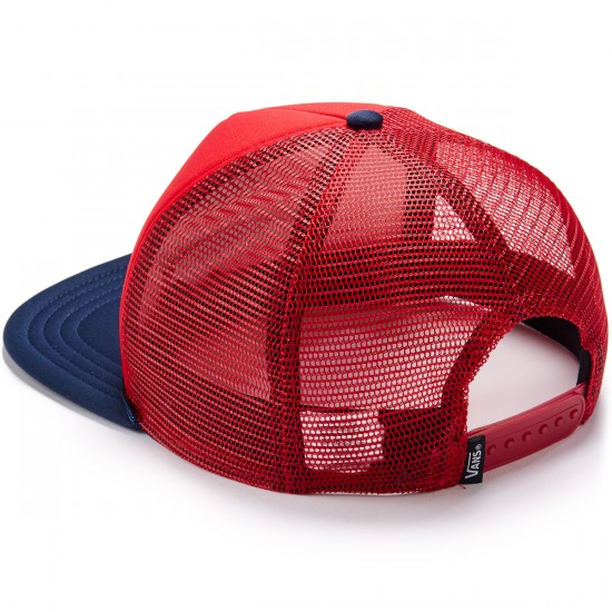 Vans Classic Patch Trucker Hat - Racing Red/Dress Blues