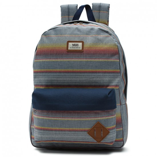 Vans Old Skool II Backpack - Blue Mirage Rockaway Stripe