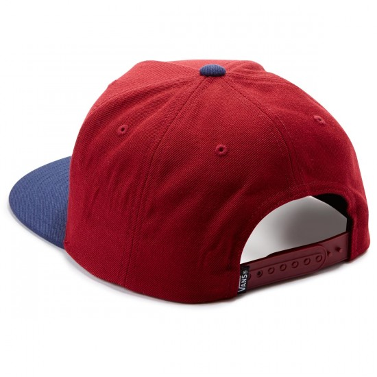 Vans Classic Patch Snapback Hat - Rhubarb/Dress Blues