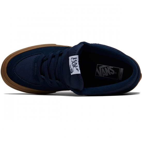 Vans Half Cab Pro Shoes - Navy/Gum - 8.0
