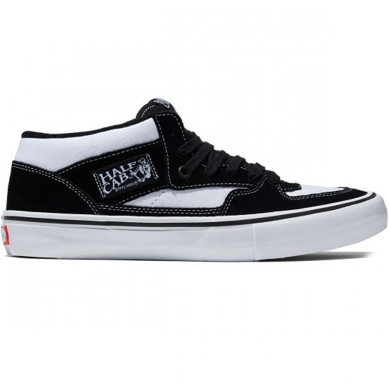 Vans Half Cab Pro Shoes - White/Black/White - 8.0