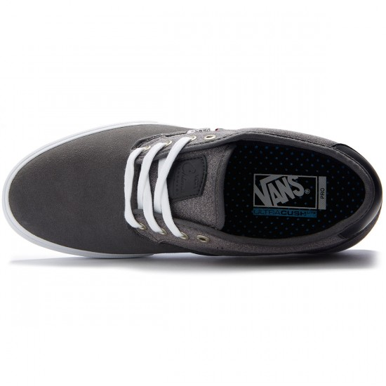 Vans Chima Estate Pro Shoes - Suede Pewter/White - 8.0