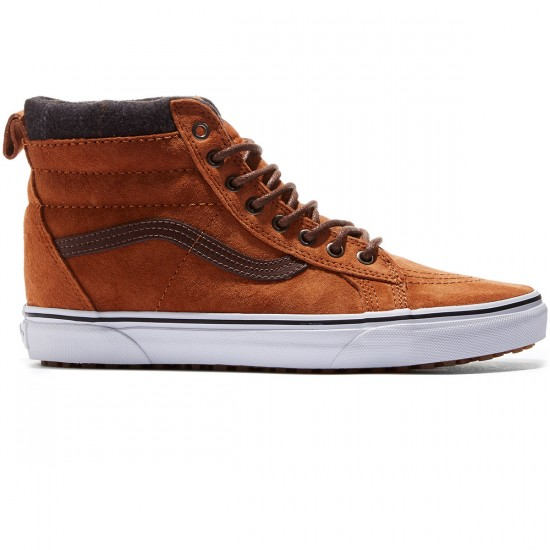 Vans Sk8-Hi MTE Shoes - Glazed Ginger/Plaid - 8.0
