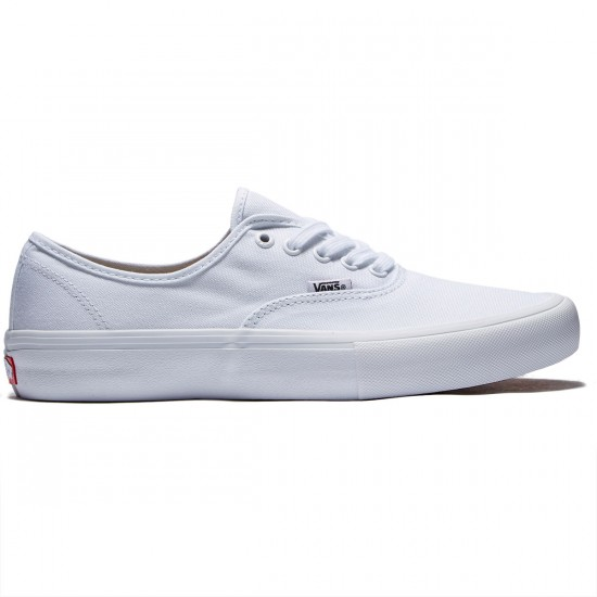 Vans Authentic Pro Shoes - True White/True White - 8.0
