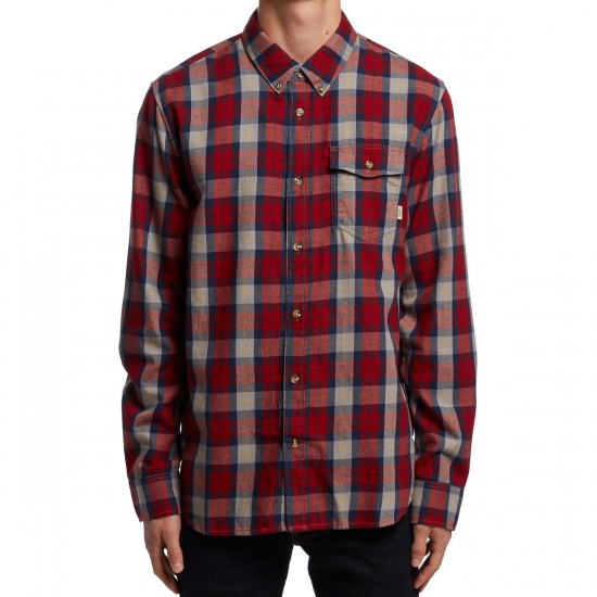 Vans Lachlan Shirt - Red Dahlia/Frost Grey