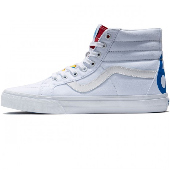 Vans SK8-Hi Reissue Shoes - True White/Blue/Red - 8.0
