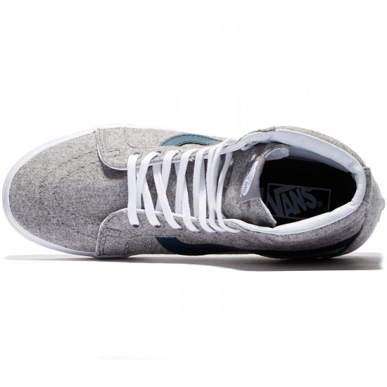 Vans SK8-Hi Reissue Shoes - Grey/True White - 8.0