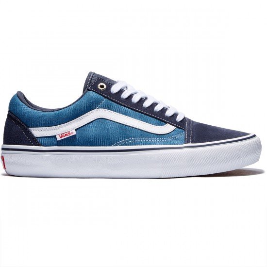 Vans Old Skool Pro Shoes - Navy/Navy/White - 8.0