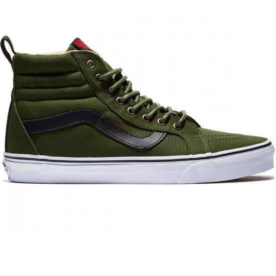 Vans SK8-Hi Reissue Shoes - Military Twill/Green/White - 8.0