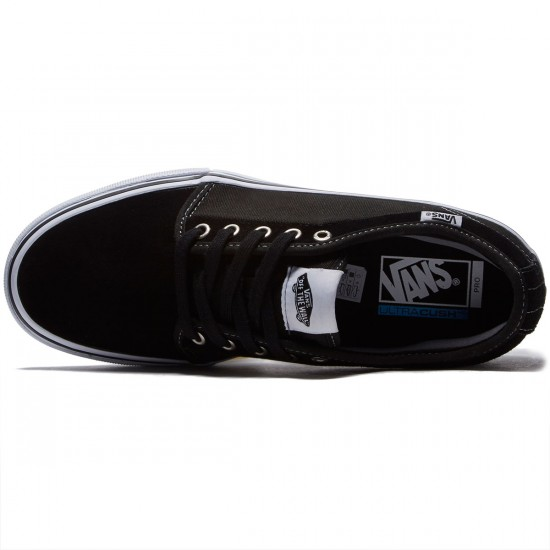Vans Chukka Low Pro Shoes - Black/White - 8.0