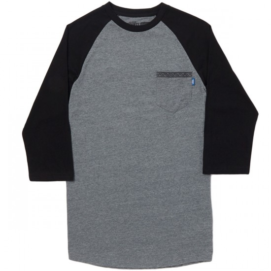 Vans Sapling Raglan T-Shirt - Heather Grey/Black