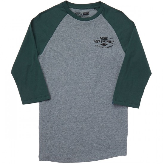 Vans Original Classics Raglan T-Shirt - Heather Grey/Green Gables
