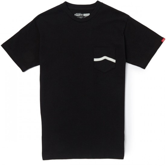 Vans Side Stripe Pocket T-Shirt - Black