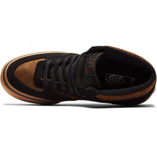 Vans Half Cab Pro Shoes - Black/Gum - 8.0