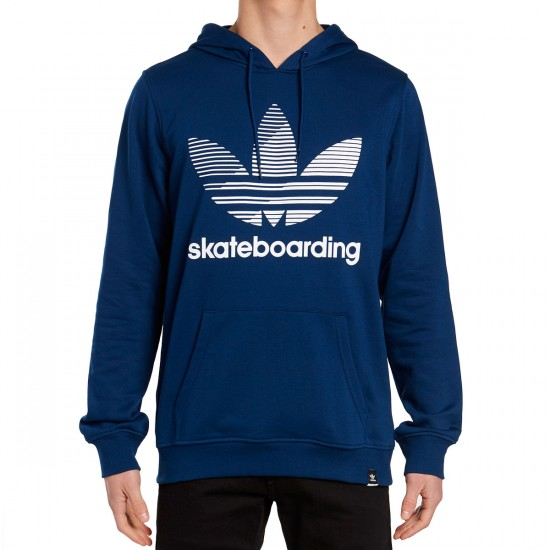 Adidas Clima Remix Pull Over Hoodie - Blue/White