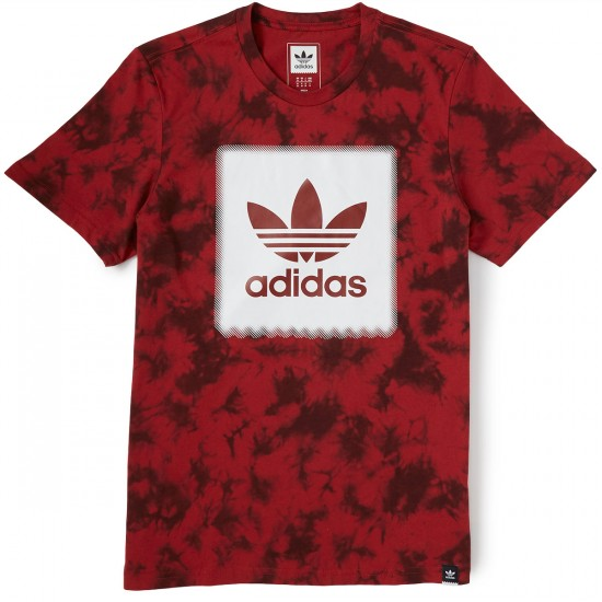 Adidas Blackbird Logo Remix 2 T-Shirt - Red/Night Red/White