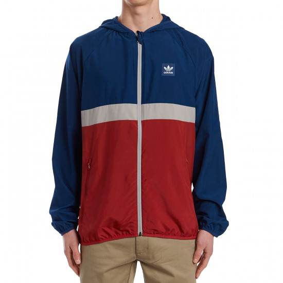 Adidas Blackbird Packable Wind Jacket - Blue/Red/Solid Grey