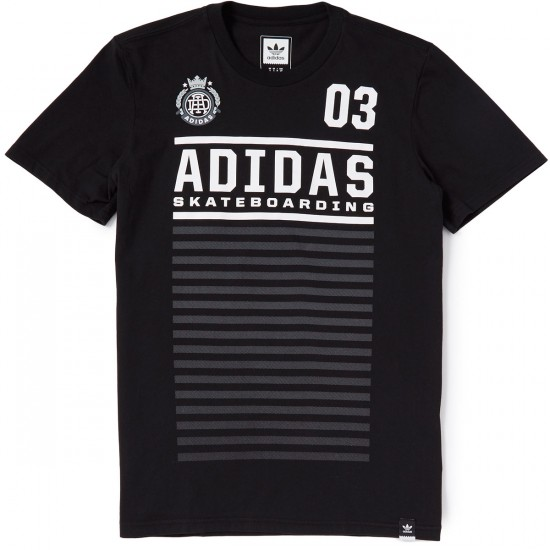 Adidas FC T-Shirt - Black/White/Clear Onix/Onix