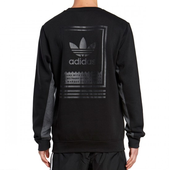 Adidas Toolkit Crewneck Sweatshirt - Black/Dark Grey Heather