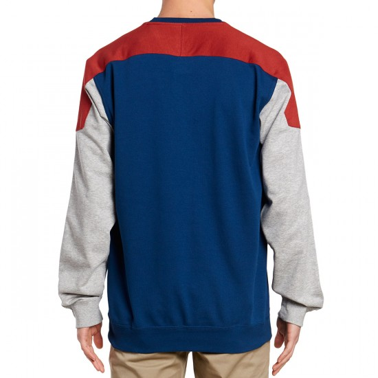 Adidas Clima Nautical Long Sleeve Shirt - Red/Blue/Medium Grey Heather/White