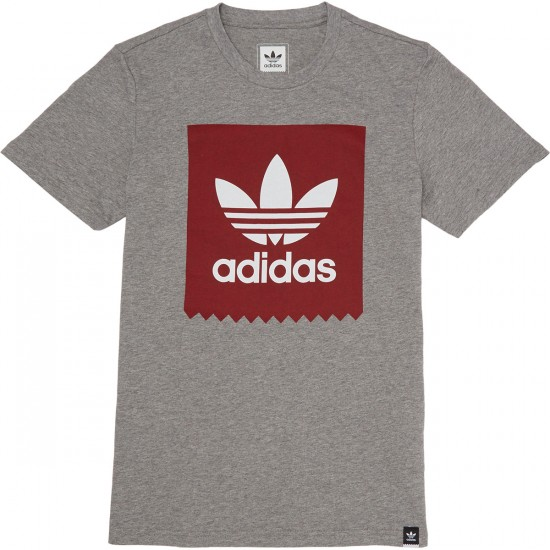 Adidas Blackbird Logo Fill T-shirt - Heather/Red