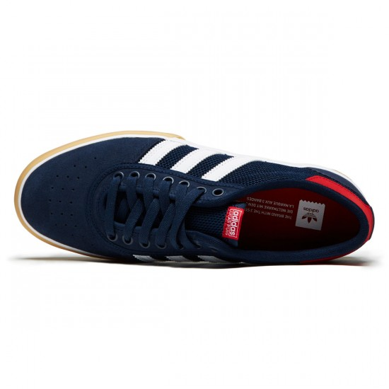 Adidas Lucas Premiere Shoes - Collegiate Navy/White/Scarlet - 6.5