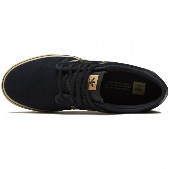 Adidas Seeley Shoes - Core Black/Cardboard/Gum - 8.0