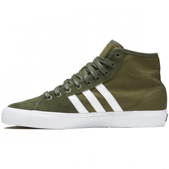 Adidas Matchcourt High RX Shoes - Olive Cargo/White/Base Green - 6.5