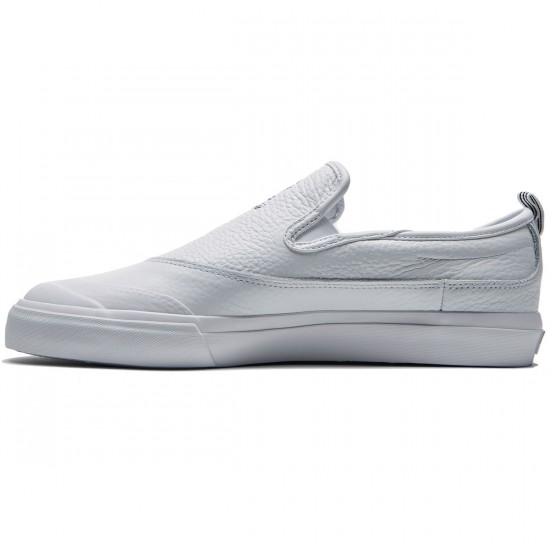 Adidas Matchcourt Slip Shoes - White Leather/White/White - 8.0