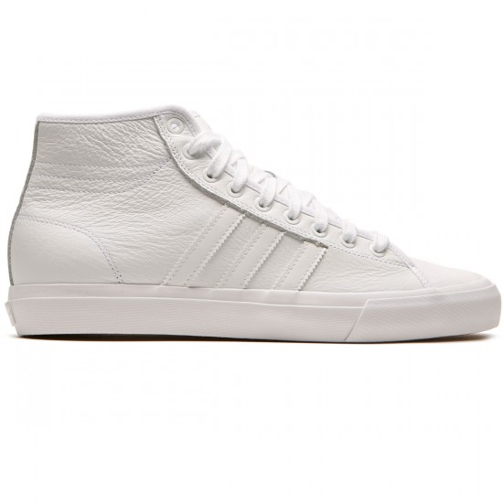Adidas Matchcourt High RX Leather Shoes - White/White/White - 8.0