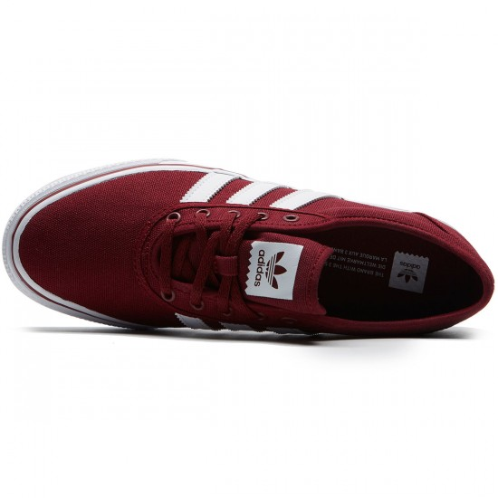 Adidas adi Ease Shoes - Collegiate Burgundy/White/Collegiate Burgundy - 8.0