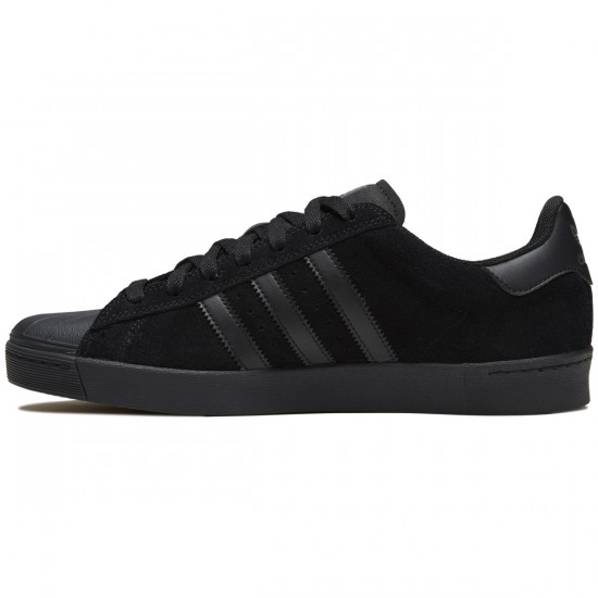 Adidas Superstar Vulc Adv Shoes - Core Black/Core Black/Core Black - 8.0