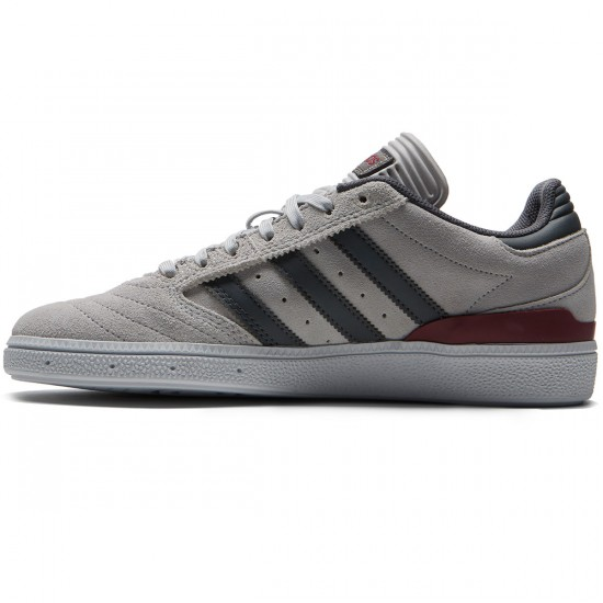 Adidas Busenitz Shoes - Grey/Customized/Collegiate Burgundy - 6.0