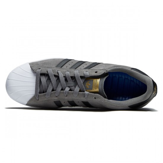 Adidas Superstar Vulc Adv Shoes - Grey/Core Black/Gold - 10.0